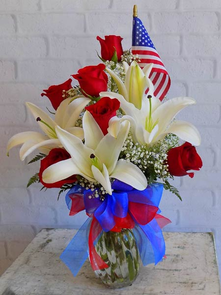 Stars, Stripes, Reds & Whites in Chicagoland IL, Amling's Flowerland