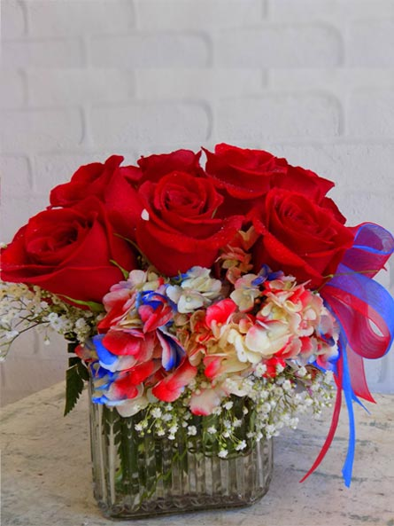 Patriotic Blooms in Manchester NH, Chalifour's Flowers