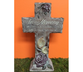Memory Cross in Brownsburg IN, Queen Anne's Lace Flowers & Gifts