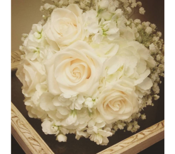 Bridal Bouquet - all white in Nashville TN, The Bellevue Florist