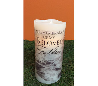 Candle-Beloved Father in Brownsburg IN, Queen Anne's Lace Flowers & Gifts