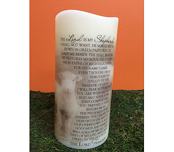 Candle-Psalms 23 in Brownsburg IN, Queen Anne's Lace Flowers & Gifts