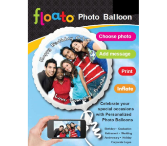 Floato Photo Balloon in Guelph ON, Patti's Flower Boutique