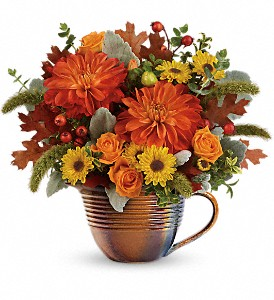Teleflora's Autumn Sunrise Bouquet in Reno NV, Bumblebee Blooms Flower Boutique