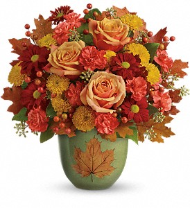 Teleflora's Heart Of Fall Bouquet in Reno NV, Bumblebee Blooms Flower Boutique