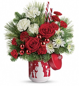 Teleflora's Snow Day Bouquet in New Port Richey FL, Holiday Florist
