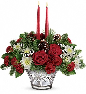 Teleflora's Sparkling Star Centerpiece in New Port Richey FL, Holiday Florist