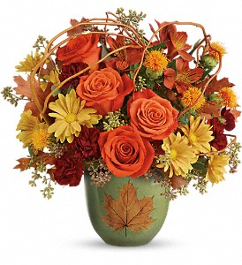 Teleflora's Turning Leaves Bouquet in Reno NV, Bumblebee Blooms Flower Boutique