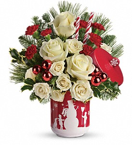 Teleflora's Falling Snow Bouquet in Reno NV, Bumblebee Blooms Flower Boutique