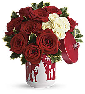 Teleflora's Roses And Holly Bouquet in Memphis TN, Henley's Flowers And Gifts