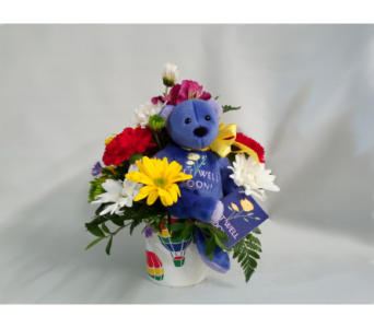 Get Well Soon Bear and Mug in Mount Horeb WI, Olson's Flowers