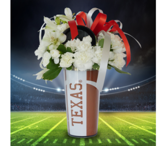 Hook 'Em Tumbler in Dallas TX, In Bloom Flowers, Gifts and More