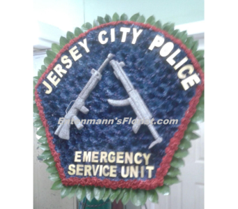 Police Shield in Jersey City NJ, Entenmann's Florist