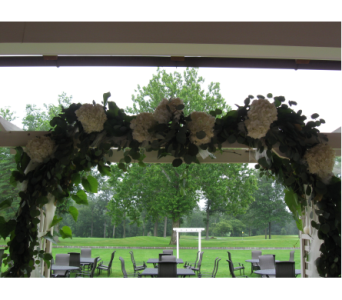 Idea To Decorate An Arch in Blue Bell PA, Country Flower Shoppe