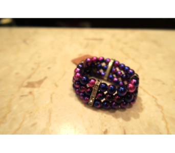 Pink/Purple Faux Pearl Bracelet in Princeton, Plainsboro, & Trenton NJ, Monday Morning Flower and Balloon Co.