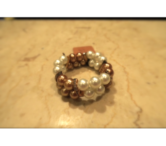 Mocha and White Faux Pearl Bracelet in Princeton, Plainsboro, & Trenton NJ, Monday Morning Flower and Balloon Co.