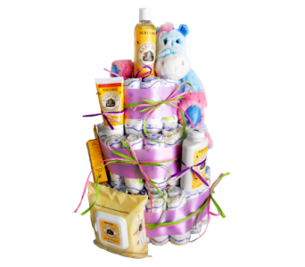Diaper Cake *Pink* in Nashville TN, Emma's Flowers & Gifts, Inc.