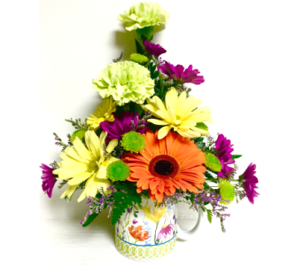 Floral Mug Arrangement - Designed One-Sided in Wyoming MI, Wyoming Stuyvesant Floral