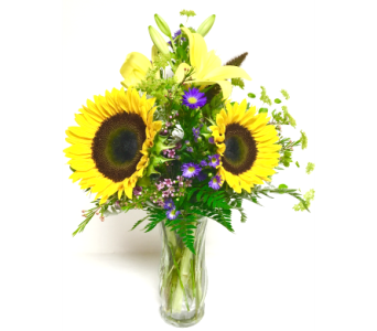 Sunflower Surprise - 8-1/2 Vase - All-Around in Wyoming MI, Wyoming Stuyvesant Floral