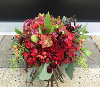 Summer Sunset Bouquet in Bellevue WA, CITY FLOWERS, INC.