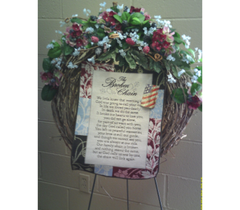 The Silk Broken Chain Wreath in Huntsville AL, Albert's Flowers