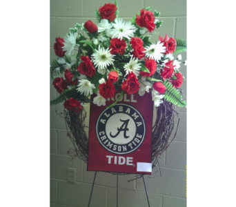 The Silk University of Alabama Wreath in Huntsville AL, Albert's Flowers