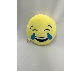 Emoji Pillow (Crying/Happy Face) in Dearborn MI, Fisher's Flower Shop