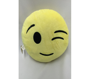 Emoji Pillow (Winking) in Dearborn MI, Fisher's Flower Shop