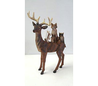 Deer Figurines in Perham MN, Ma's Little Red Barn