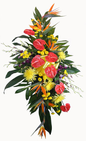 Tropical Deluxe Standing Spray in Arlington Heights IL, Sylvia's - Amlings Flowers
