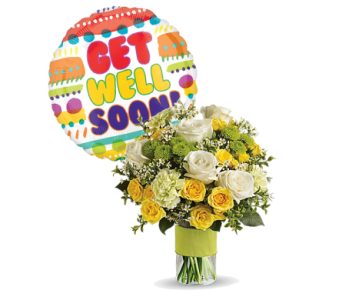 Your Sweet Smile with Get Well Mylar by 1-800-balloons