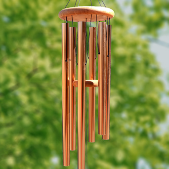 Wind Lullaby Copper Chimes in Dallas TX, Dr Delphinium Designs & Events