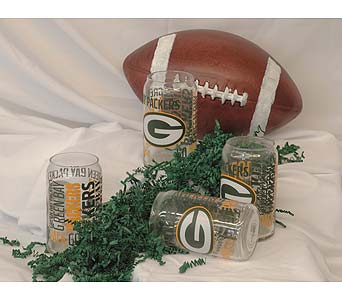 Green Bay Packers Glasses in Hales Corners WI, Barb's Green House Florist