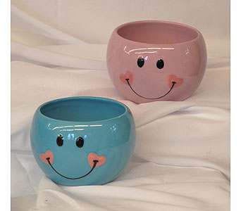 Baby Smile Face Pots in Hales Corners WI, Barb's Green House Florist
