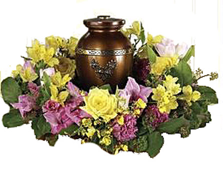 Spring Cremation Wreath in Fredericksburg VA, Thompson's-Westwood Florist