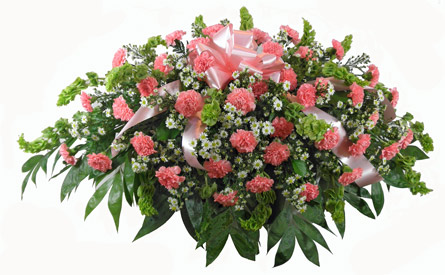 Carnation Garden-Style Casket Spray in Newport News VA, Pollards Florist