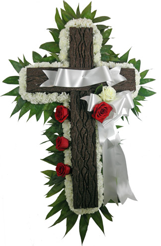Memorial Cross in Fredericksburg VA, Heaven Scent Florist