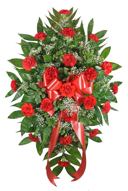 Timeless Traditions Red Standing Spray in Fredericksburg VA, Heaven Scent Florist