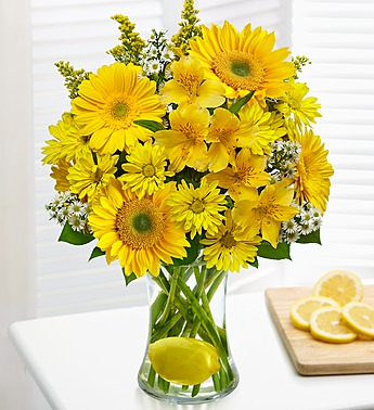 Make Lemonade in a Vase in Camp Hill and Harrisburg PA, Pealer's Flowers
