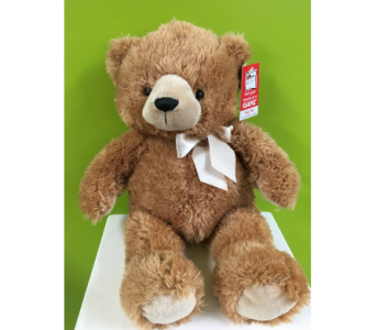 Medium Light Brown Bear in Jamesburg NJ, Sweet William & Thyme