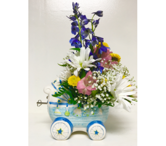 Musical Ceramic Carriage - Boy in Wyoming MI, Wyoming Stuyvesant Floral