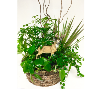 Keepsake Deer Planter - 12 inch basket in Wyoming MI, Wyoming Stuyvesant Floral