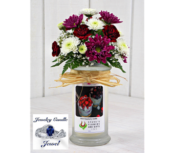 Jewelry Candle-Black Raspberry Vanilla in Indianapolis IN, Steve's Flowers and Gifts