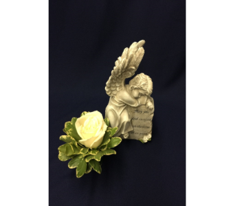 Arms of an Angel with Rose in Dearborn MI, Fisher's Flower Shop