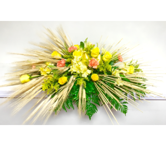 Sheaf of Wheat Casket Spray in Wyoming MI, Wyoming Stuyvesant Floral