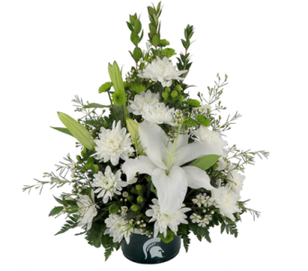 MSU Spartans Bowl Bouquet in Southfield MI, Thrifty Florist
