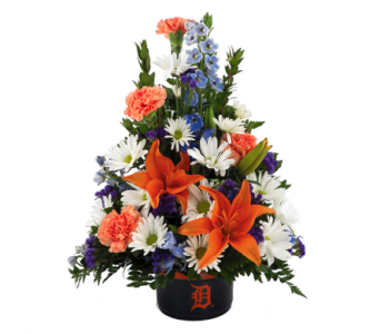 Detroit Tiger Bowl Bouquet in Southfield MI, Thrifty Florist