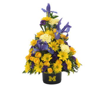 University of Michigan Bowl Bouquet in Southfield MI, Thrifty Florist