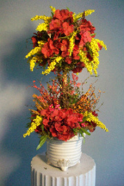 Fall Silk Topiary in Huntington WV, Archer's Flowers, Inc.