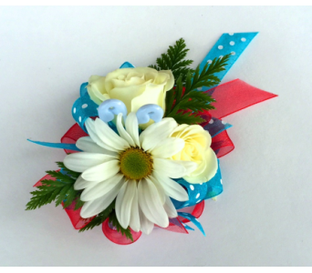 Baby Shower Corsage - It''s a Boy! in Schofield WI, Krueger Floral and Gifts